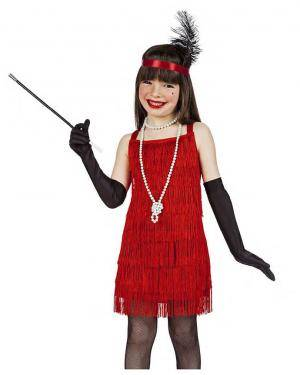 Fato Charleston Vermelho 3-4 Anos para Carnaval