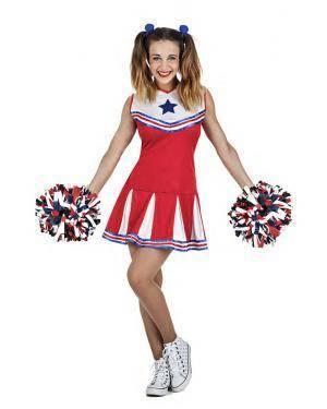 Fato Cheerleader Tamanho S para Carnaval