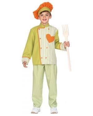 Fato Chefe de Cozinha de 7-9 anos Disfarces A Casa do Carnaval.pt