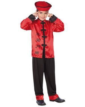 Fato Chinês Vermelho Menino Disfarces A Casa do Carnaval.pt