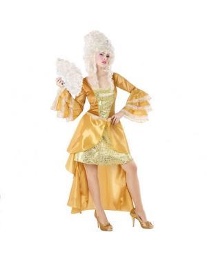 Fato Cortesã Dourada Mulher para Carnaval