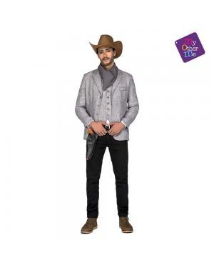 Fato Cowboy Gris M/L para Carnaval