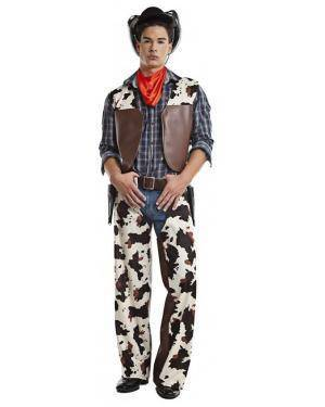Fato Cowboy Vaqueiro T. M/L Disfarces A Casa do Carnaval.pt