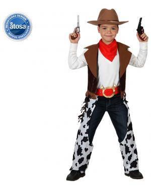 Fato Cowboy Vaqueiro Malhado Menino Disfarces A Casa do Carnaval.pt