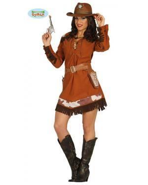 Fato Cowgirl Adulta, Loja de Fatos Carnaval, Disfarces, Artigos para Festas, Acessórios de Carnaval, Mascaras, Perucas, Chapeus 281 acasadocarnaval.pt