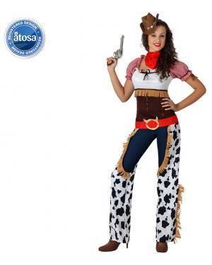 Fato Cowgirl Vaquerira Malhado Adulto Disfarces A Casa do Carnaval.pt