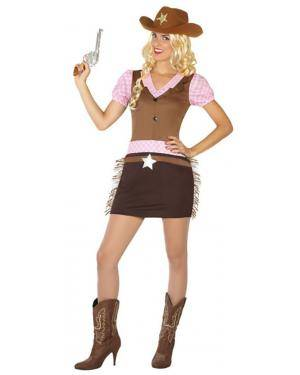 Fato Cowgirl Western Adulto XS/S Disfarces A Casa do Carnaval.pt
