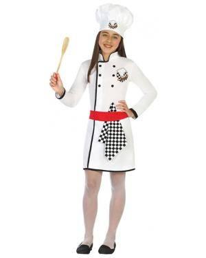 Fato Cozinheira Menina de 7-9 anos Disfarces A Casa do Carnaval.pt