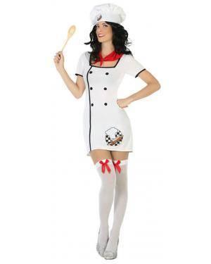 Fato Cozinheira Mulher Adulto M/L Disfarces A Casa do Carnaval.pt