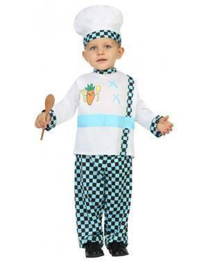 Fato Cozinheiro Bebé de 6-12 meses Disfarces A Casa do Carnaval.pt