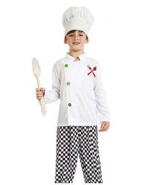 Fato Cozinheiro Chef 10-12 Anos Disfarces A Casa do Carnaval.pt