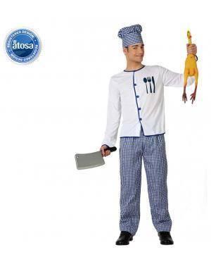 Fato Cozinheiro Chef Adulto Disfarces A Casa do Carnaval.pt