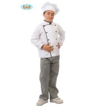 Fato Cozinheiro Chefe Criança, Loja de Fatos Carnaval, Disfarces, Artigos para Festas, Acessórios de Carnaval, Mascaras, Perucas 147 acasadocarnaval.pt