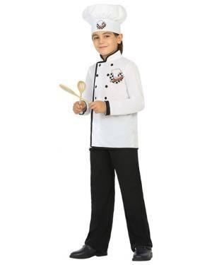 Fato Cozinheiro Menino de 10-12 anos Disfarces A Casa do Carnaval.pt