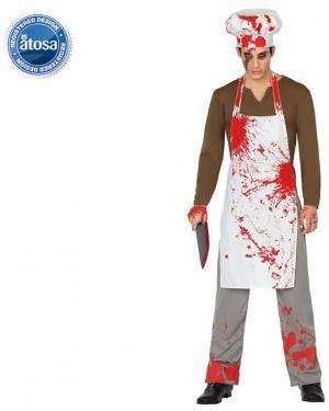Fato Cozinheiro Sangrento Adulto Disfarces A Casa do Carnaval.pt