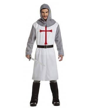 Fato Cruzado Medieval Branco T. XL Disfarces A Casa do Carnaval.pt