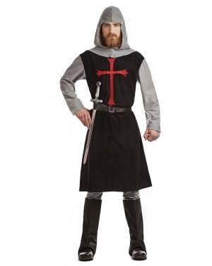 Fato Cruzado Medieval Preto T. S Disfarces A Casa do Carnaval.pt