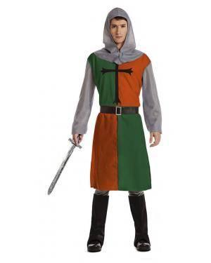 Fato Cruzado Medieval Verde T. XL Disfarces A Casa do Carnaval.pt