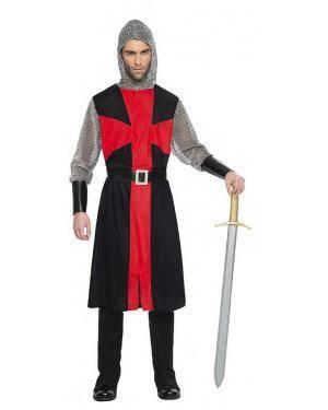 Fato Cruzado Medieval T. XL Disfarces A Casa do Carnaval.pt
