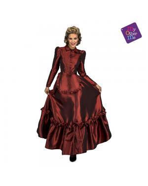 Fato Dama de Vermelho do Oeste M/L para Carnaval