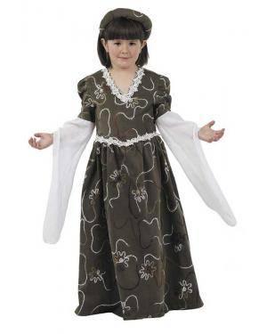 Fato de Dama Medieval Infantil para Carnaval | A Casa do Carnaval.pt