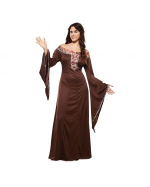 Fato Dama Medieval Marrom para Carnaval