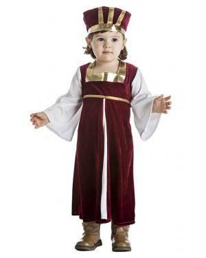 Fato Dama Medieval Menina 3-4 Anos Disfarces A Casa do Carnaval.pt