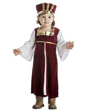 Fato Dama Medieval Menina 3-4 Anos para Carnaval