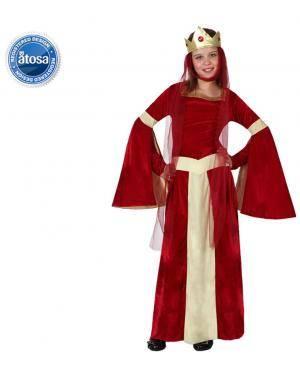 Fato Dama Medieval Menina Vermelho Disfarces A Casa do Carnaval.pt