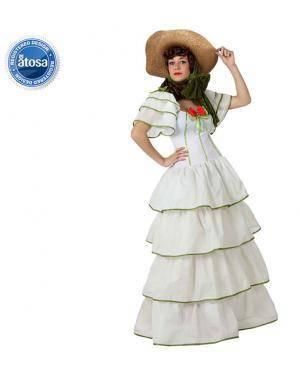 Fato Dama do Sul Branca Adulto Disfarces A Casa do Carnaval.pt