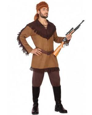 Fato Daniel Boone Adulto para Carnaval