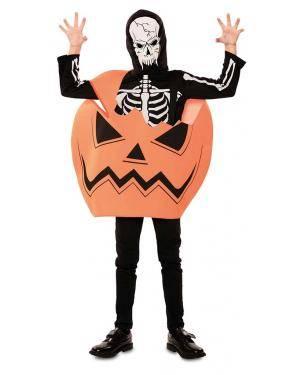 Fato de Abóbora Esqueleto 7-9 Anos para Carnaval