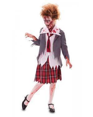 Fato de Aluna Zombie Infantil Disfarces A Casa do Carnaval.pt