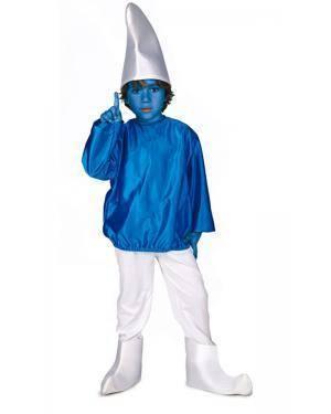 Fato de Anão Azul Infantil Disfarces A Casa do Carnaval.pt