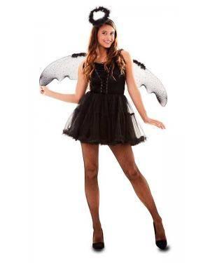 Fato de Anjo Negro Adulto para Carnaval o Halloween | A Casa do Carnaval.pt