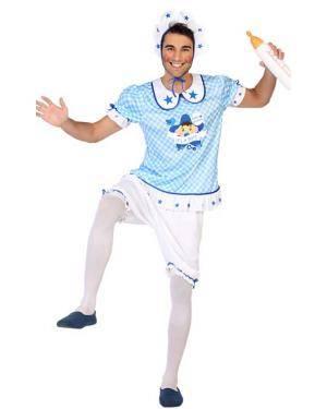 Fato de Bebé Azul Homem Disfarces A Casa do Carnaval.pt