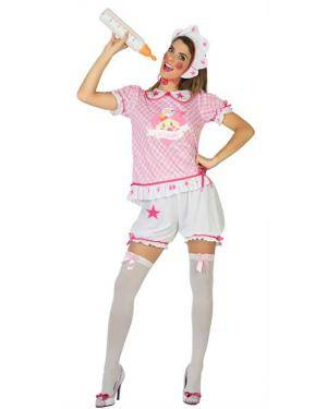 Fato de Bebé Rosa Mulher Disfarces A Casa do Carnaval.pt