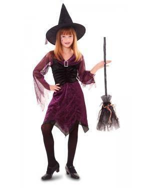 Fato de Bruxa Púrpura Menina Disfarces A Casa do Carnaval.pt