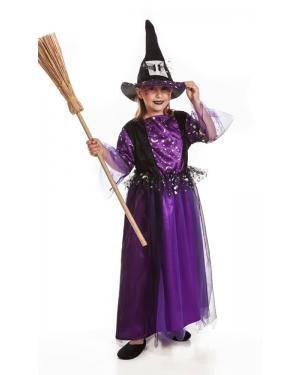 Fato de Bruxa Roxa Infantil Disfarces A Casa do Carnaval.pt