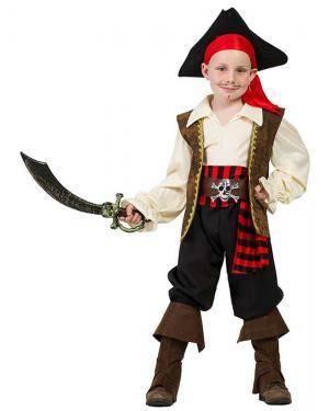Fato de Capitão Pirata Menino