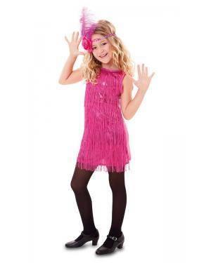 Fato de Charleston Fúcsia Menina Disfarces A Casa do Carnaval.pt