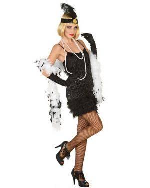 Fato de Charleston Preto Mulher para Carnaval o Halloween | A Casa do Carnaval.pt