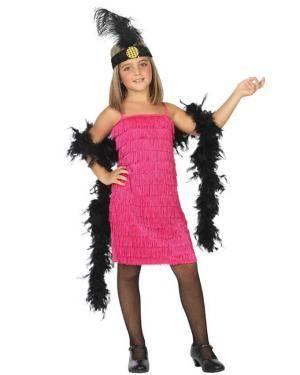 Fato de Charleston Rosa Infantil para Carnaval o Halloween | A Casa do Carnaval.pt