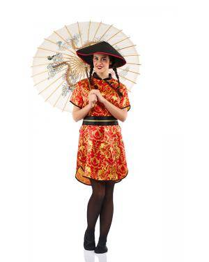 Fato de Chinesa Adulto Tamanho M Disfarces A Casa do Carnaval.pt