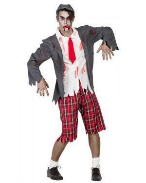 Fato de Colegial Zombie Homem