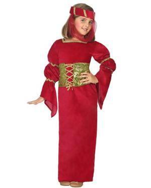Fato de Dama Medieval Infantil Disfarces A Casa do Carnaval.pt