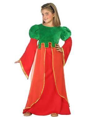 Fato de Dama Medieval Menina Disfarces A Casa do Carnaval.pt