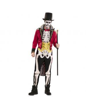 Fato de Domador Esqueleto Homen para Carnaval