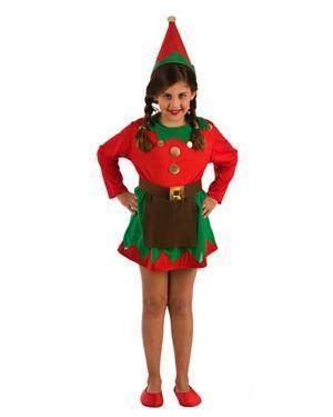 Fato de Elfa Infantil para Carnaval