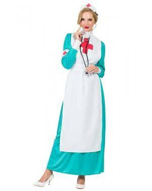 Fato de Enfermeira Verde Adulto